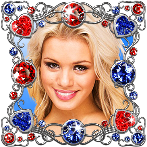 Diamond photo frames. ANIMATED Icon