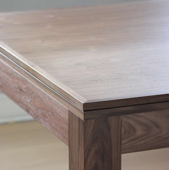 The edge of the refined dining table