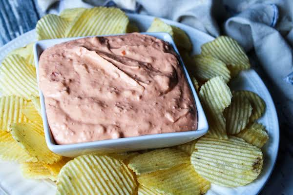 A Bowl Of Peggy's Holiday Cheese Dip.