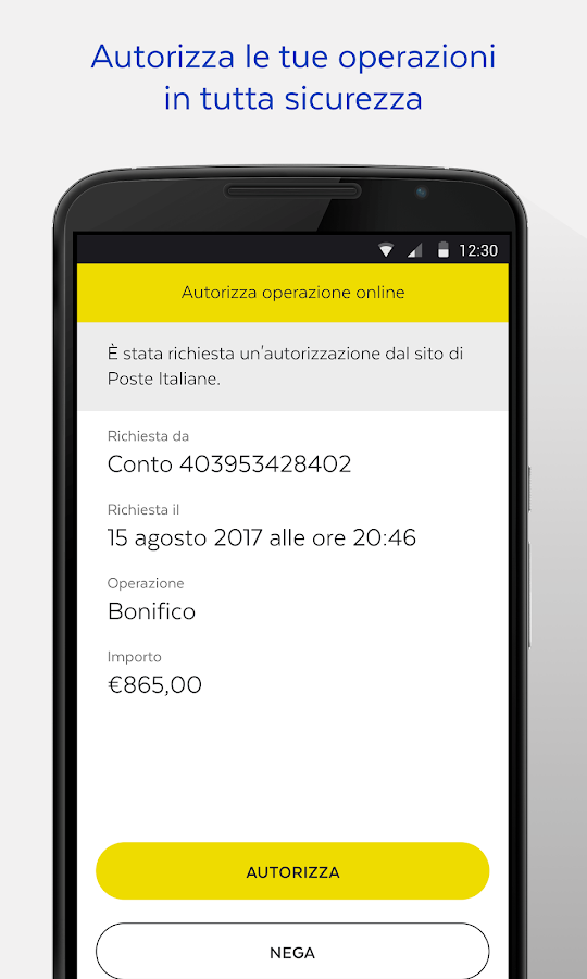 BancoPosta- screenshot