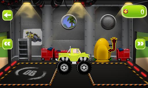 賽車遊戲的孩子 卡車