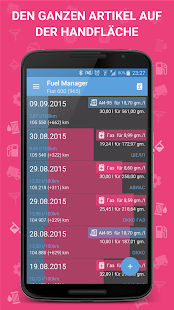 Fuel Manager Pro (Verbrauch) Screenshot