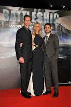 Photo: Alexander Skarsgård, Brooklyn Decker, and Taylor Kitsch attend the World Premiere of Battleship.