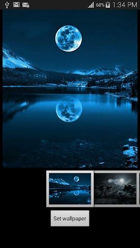 満月の夜の壁紙