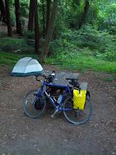 Photo: Bike camping at Pfeffer Big Sur