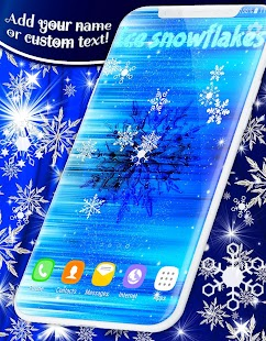 Ice Snowflakes Live Wallpapers - náhled