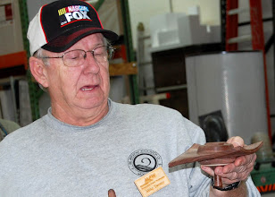 Photo: Mike Twenty shows the bottom of his square box with up and down wings.