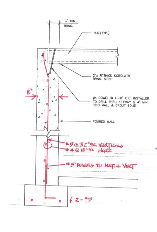 Note: This is a generic structural drawing of a footing. An official structural drawing would have a licensed structural engineer's stamp of approval on the page.