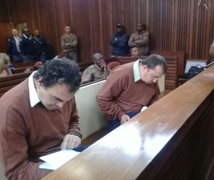 Coffin assault duo, Theo Jackson and Willem Oosthuizen back in court.