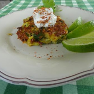 Country Garden Fritters with Chili Lemon Cream