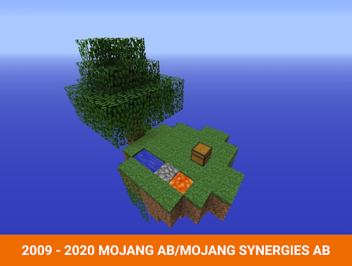 One block survival Minecraft maps. Map for MCPE 3.5 screenshots 6