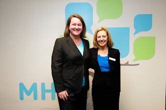 Photo: with Lynne Coulson Barr - Victoria's first Mental Health Complaints Commissioner