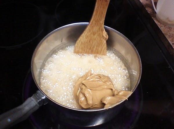 Add peanut butter and stir.