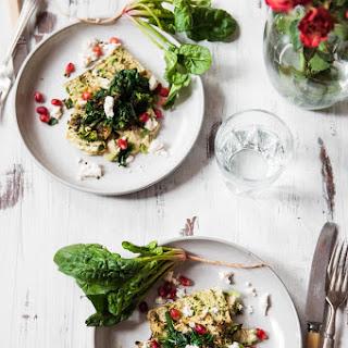 Cilantro-Chilli Grilled Tofu and Wild Spinach Salad.