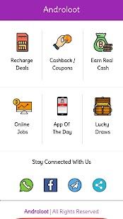 Androloot - Online Jobs,Earn Money, Deals,Coupons - náhled