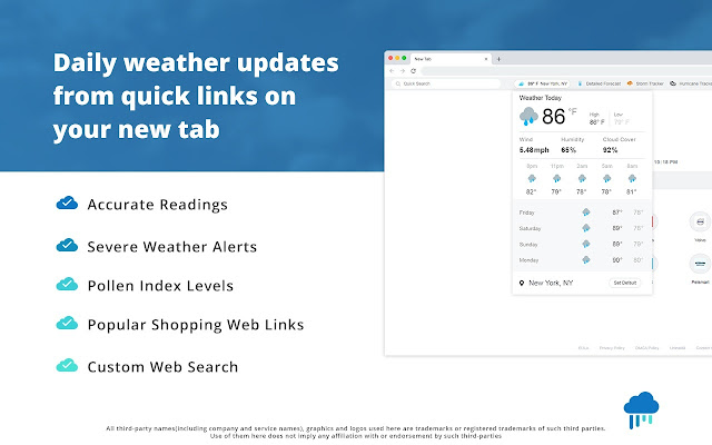 Weather Online Now BETA EXTENSION