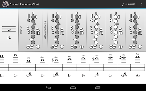 ... Clarinet Fingering Chart Screenshot 3 ...