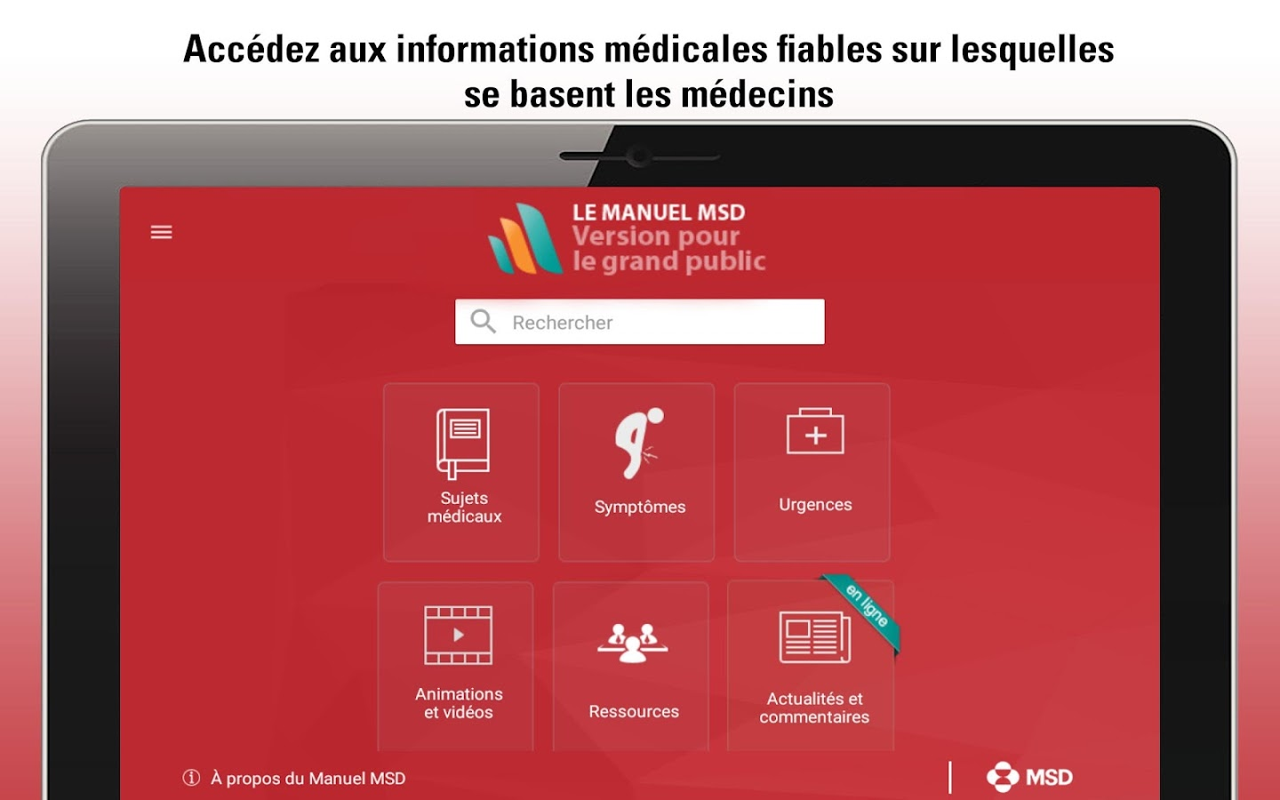 Le Manuel MSD grand public- screenshot