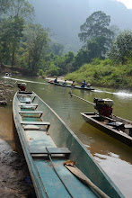 Photo: Look at our tailboat which took us through Konglor caves
