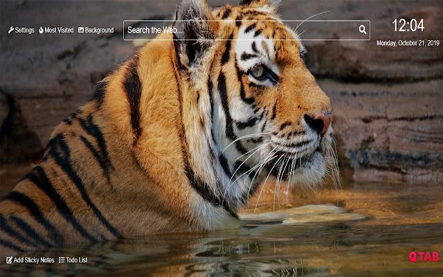 Tiger Wallpaper New Tab Theme