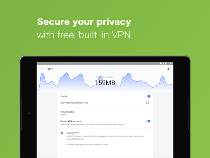 App Opera with free VPN APK for Windows Phone