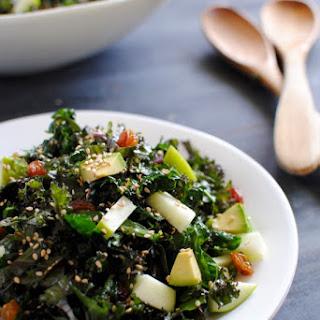 Crunchy Kale Salad with Avocado and Sesame