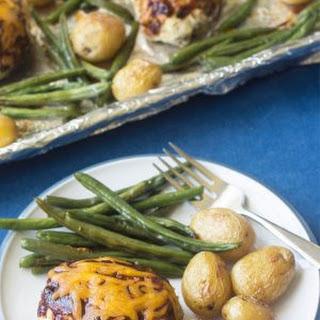 Mini BBQ Turkey Meatloaf Sheet Pan Dinner Recipe