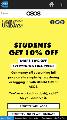 Student Discounts UK app (apk) free download for Android/PC/Windows screenshot