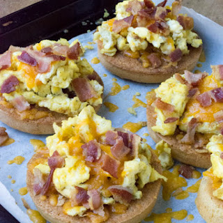 Cheesy Low Carb Bacon Egg Muffin Tops Recipe