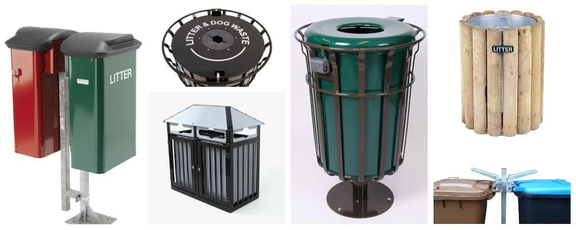 Range of Heavy Duty Litter Bins from EA