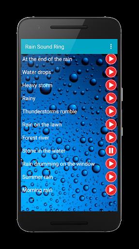 Rain sounds sleep ringtones