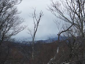 雪雲が近づく