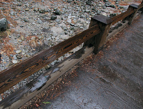 Photo: To Lower Yosemite Falls. Liked what the rain was doing to the wood.