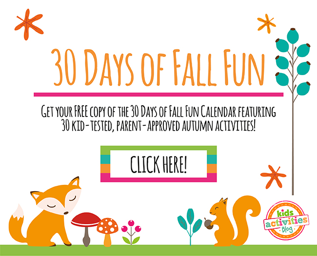 30 Days of Fall Fun Calendar
