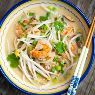 Thai Coconut Noodle Soup With Shrimp