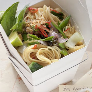 Spicy Noodle Salad in Container