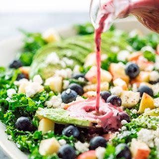Kale Salad with Blueberry Vinaigrette.