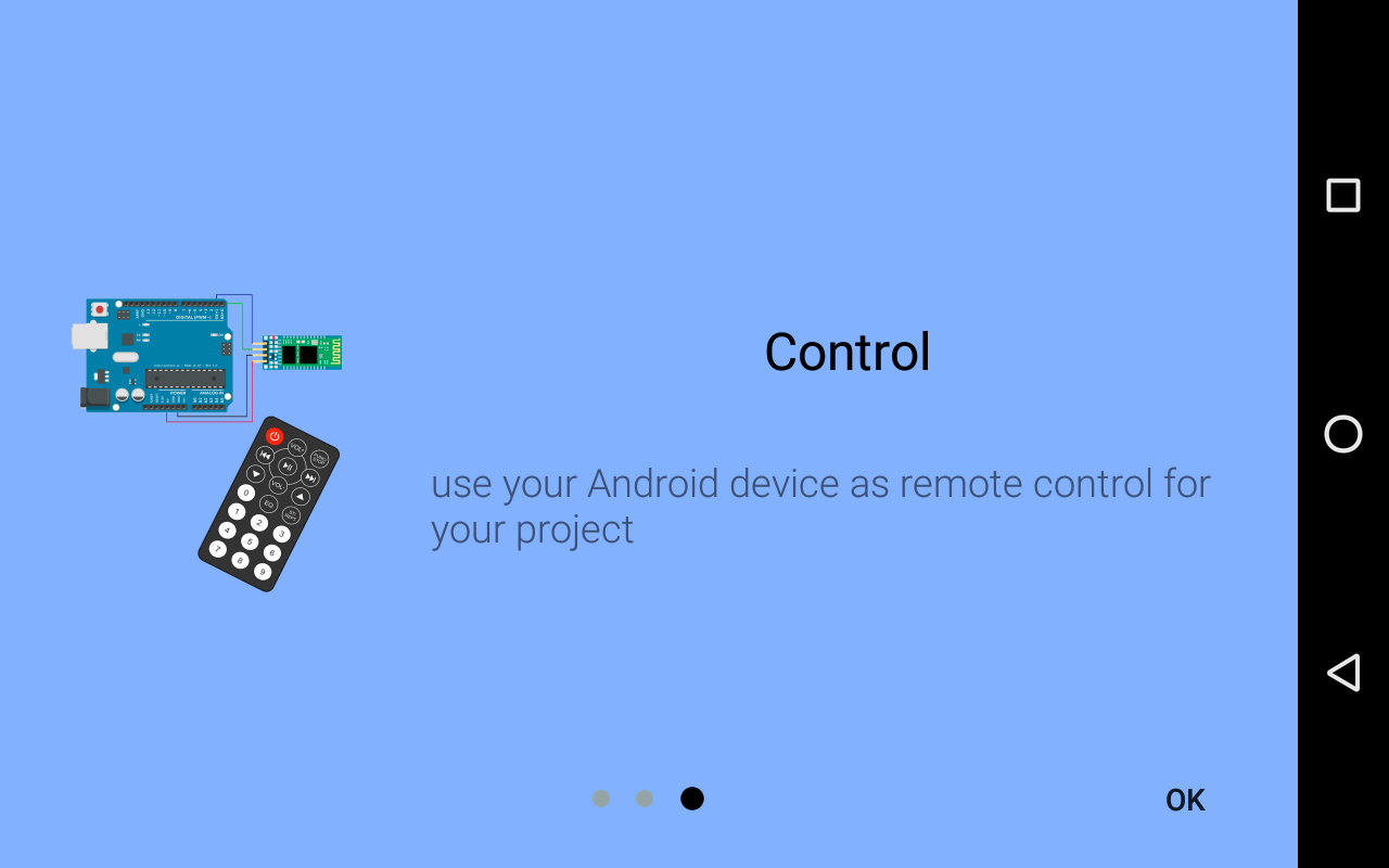Arduino bluetooth controller- screenshot