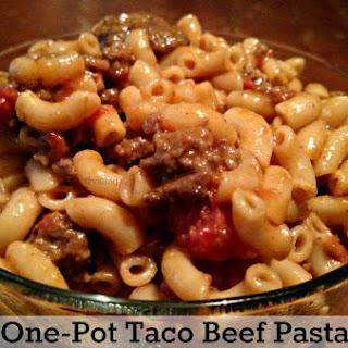 One-Pot Taco Beef Pasta