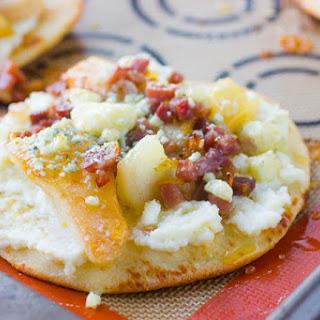 Pear and Prosciutto Flatbread Pizzas.