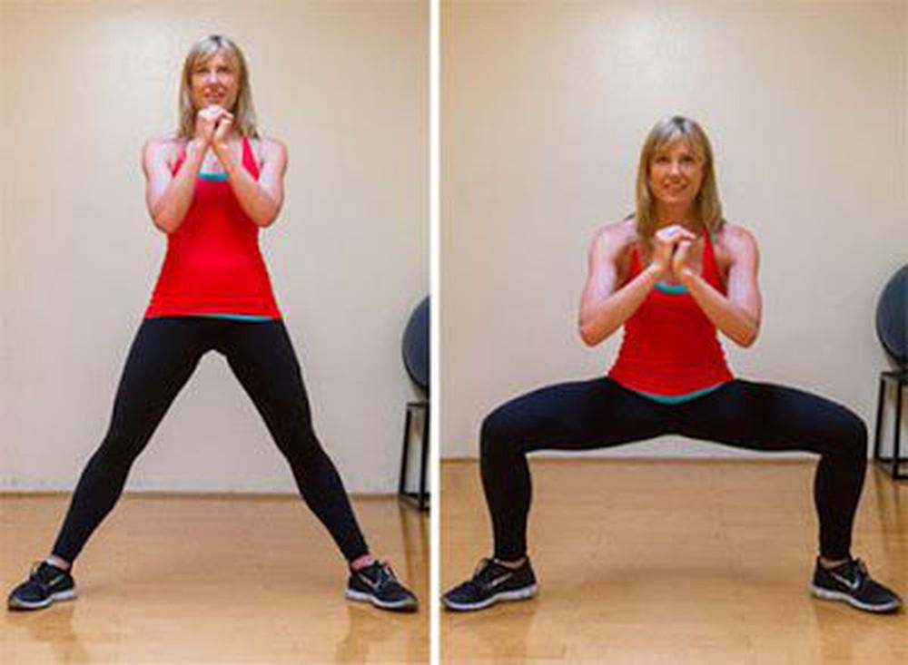Đứng tấn sẽ là bài tập tuyệt vời cho người đang phiền não vì mỡ thừa ở đùi.