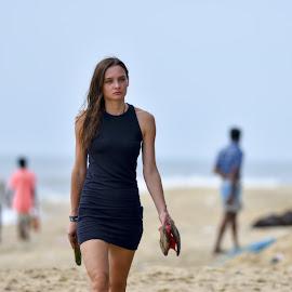Fashion by the beach by Vijayanand Kandasamy - People Fashion ( beauty, beach, girl, hot, fashion,  )