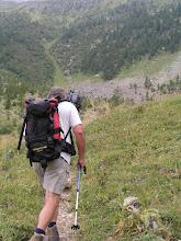Photo: Ascension de l'aiguille d'Orcières, le creux de l'aiguille à la montée