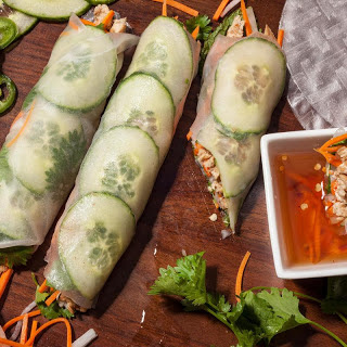 Rice Paper Banh Mi with Five-Spice Chicken