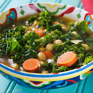 North African Chickpea and Kale Soup.