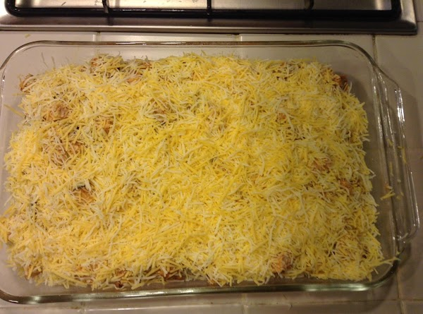 Layer 2: Repeat step 5, but instead of finishing with tortillas, finish with a...