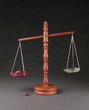 Photo: Scales of Justice Ken Dunlap, turner Lora Franks, beadmaker