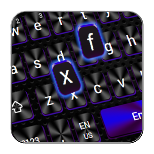 Cool  Black Blue Keyboard