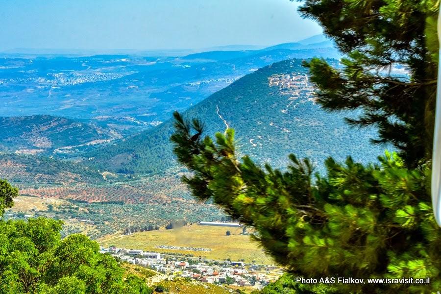 Пейзажи Верхней Галилеи. Экскурсии в Израиле.