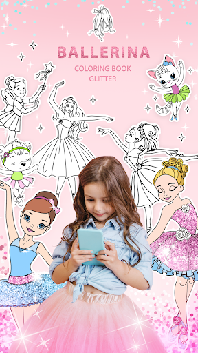 Ballerina Coloring Book Glitter - Girl Games 1.0.4.0 screenshots 1